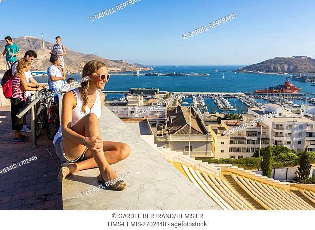 Spain, Murcia Community, Cartagena, general view from the Castillo de la Concepcion