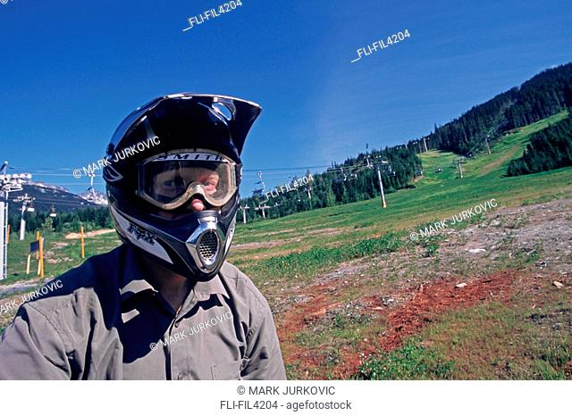 Mountain Biker, Whistler, British Columbia