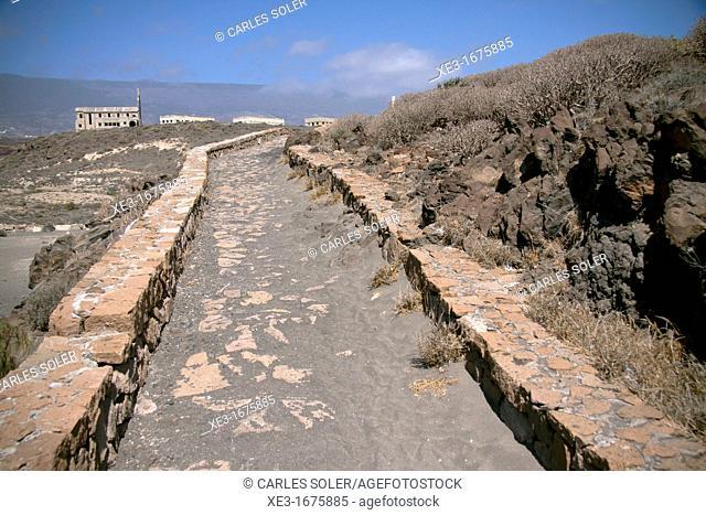 Walkway, Playa de los Abrigos, Abades, Tenerife, Canary Islands, Spain