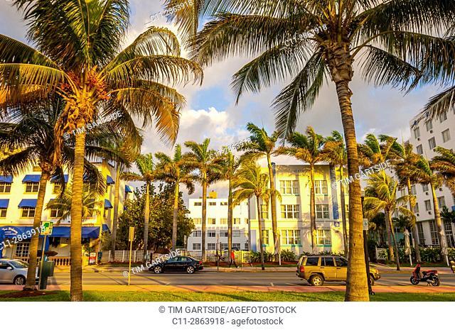 South Beach, Ocean Drive,Miami, Florida, USA