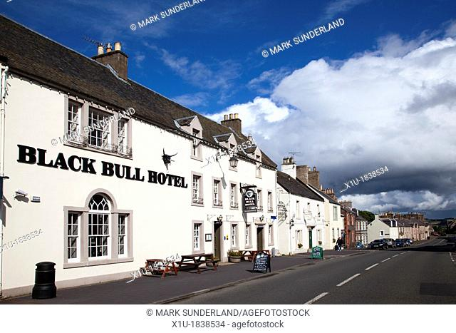 The Black Bull Hotel in the Market Place at Lauder Scottish Borders Scotland