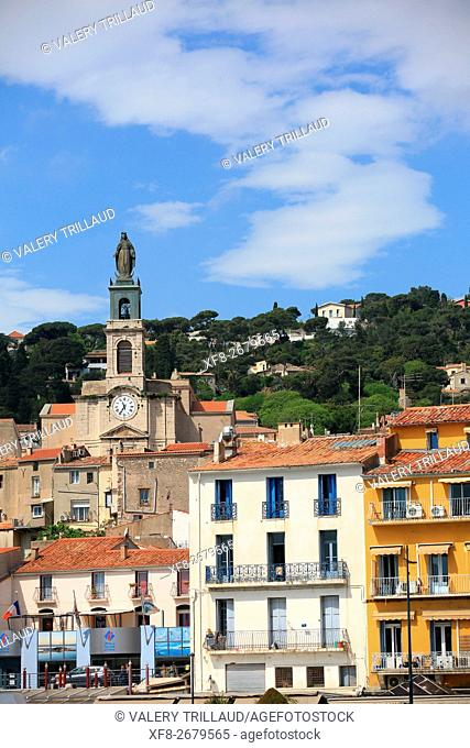 The city of Sete, Herault, Languedoc Roussillon, France