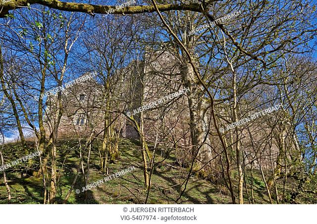 Doune Castle, famous for -Monty Python and the Holy Grail-, Scotland, Europe - Scotland, United Kingdom, 17/04/2015