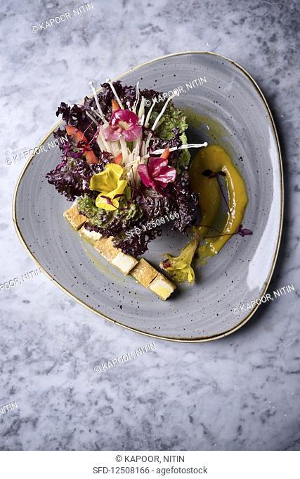 Tofu and Enoki Mushroom Salad