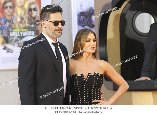 """Joe Manganiello, Sofia Vergara at Sony Pictures' """"""""Once Upon a Time...in Hollywood"""""""" World Premiere held at the TCL Chinese Theatre, Los Angeles, USA, July 22"""