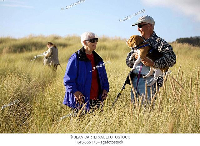 Louise O'Hare & Ralph Holm visit during photo workshop at Cannon Beach, Northern Oregon coast, USA