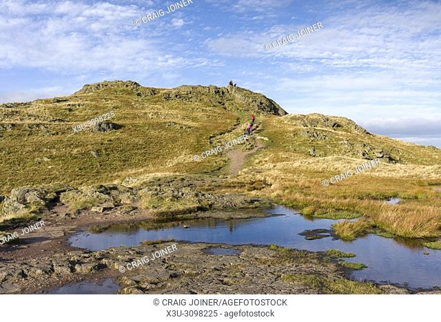 The summit of Place Fell in the Lake District National Park, Cumbria, England