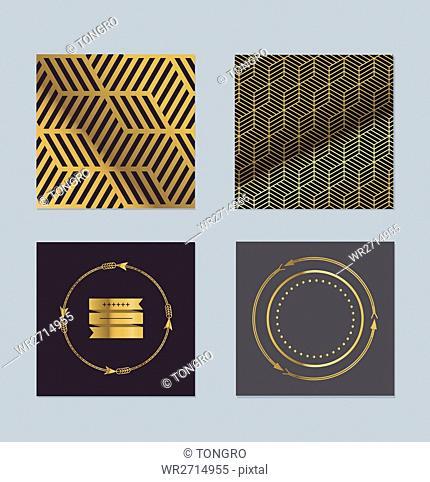 Luxurious gold patterns