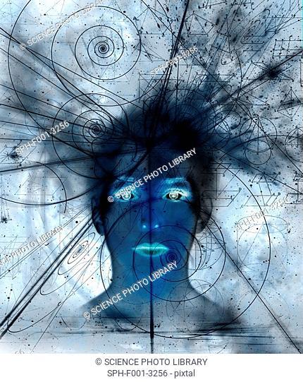 Mathematical universe, conceptual artwork