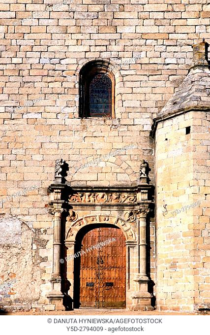 Facade of San Mateo church - Iglesia de San Mateo, Old Town of Caceres. UNESCO World Heritage Site, Extremadura. Spain, Europe
