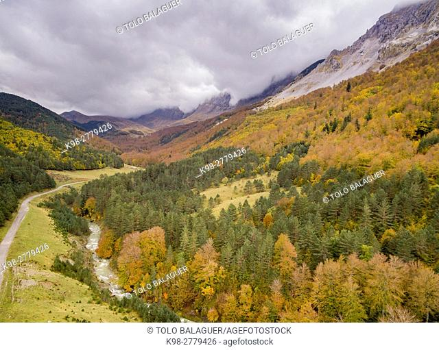 Ravine of Petraficha, Zuriza, western valleys, Pyrenean mountain range, province of Huesca, Aragon, Spain
