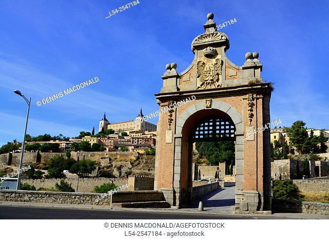 Alcantara Bridge Toledo Spain ES Tagus River