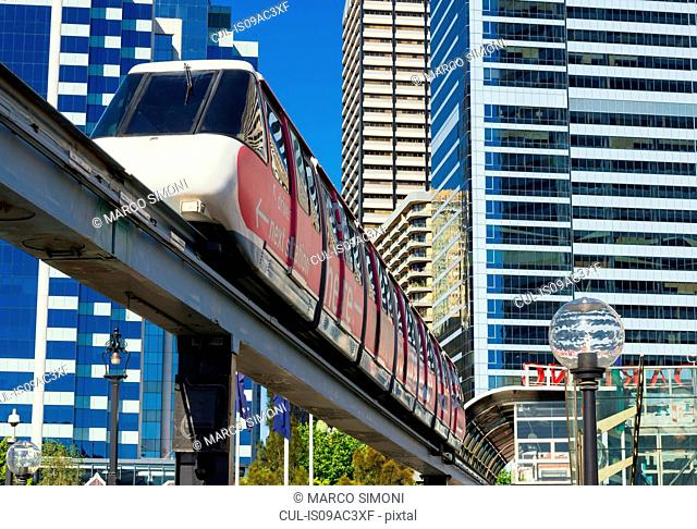 Sydney monorail and train, Sydney, Australia