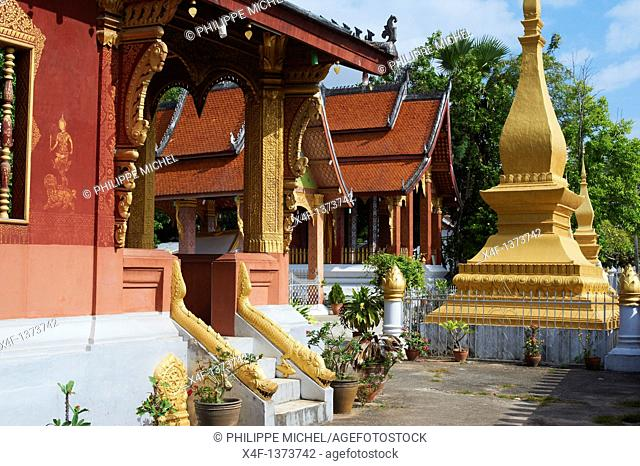 Laos, Province of Luang Prabang, city of Luang Prabang, World heritage of UNESCO since 1995, Wat Sop temple
