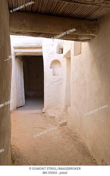 Cavelike lane in the historic center of Ghadames, Ghadamis, Libya