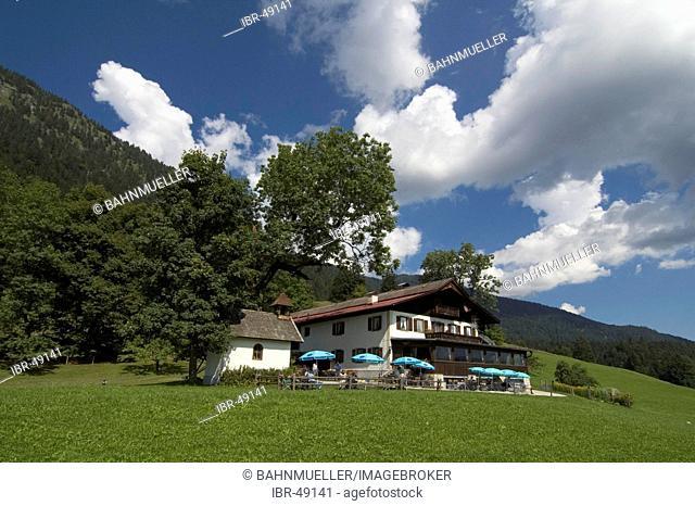 At the Restaurant Gschwandtnerbauer near Garmisch Partenkirchen Werdenfelser Land Bavaria Germany
