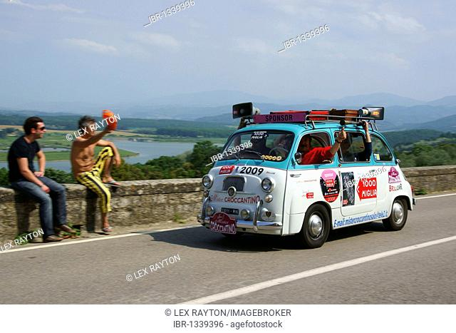 Mille Miglia car race in Tuscany, Italy, Europe