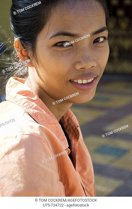 girl in phnom penh, cambodia
