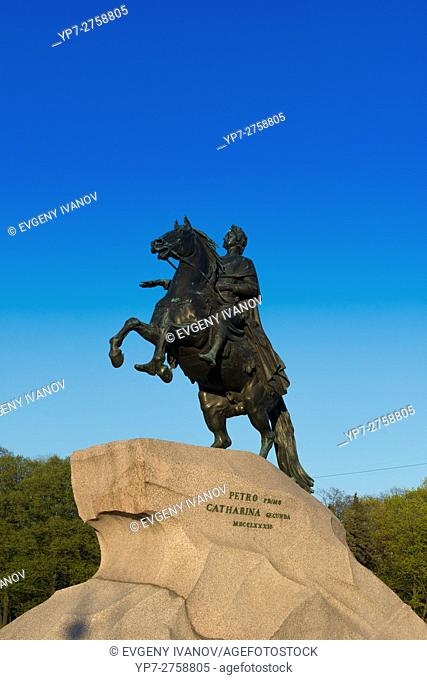 "The Bronze Horseman â. "" The Monument To Emperor Peter The Great, St Petersburg"