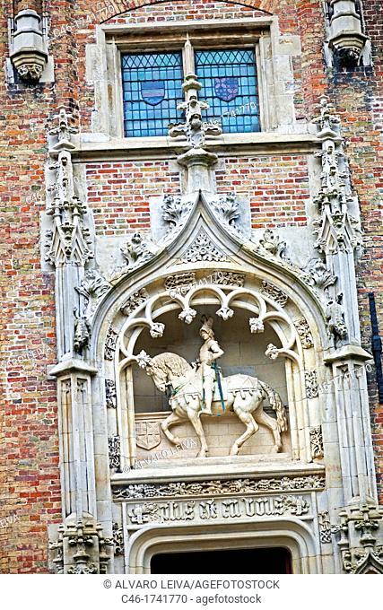 Building, Brugge, Bruges, Flanders, Belgium