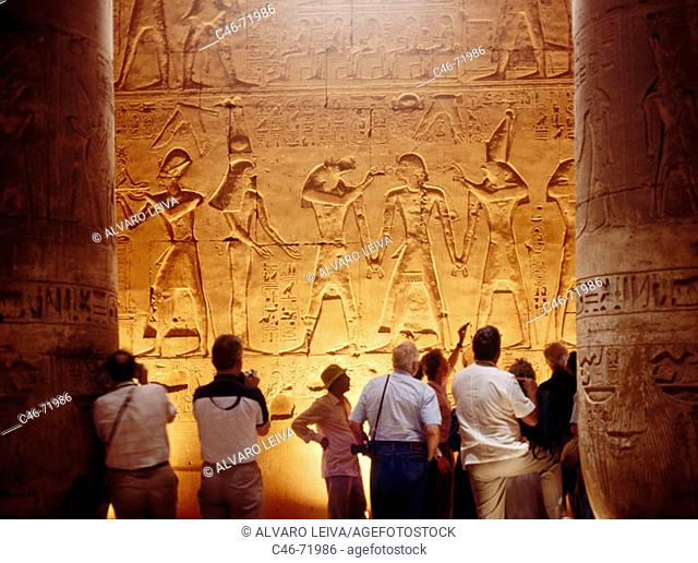 Great Temple of Abydos of Seti I built in the 13th century BC, Abydos. Egypt