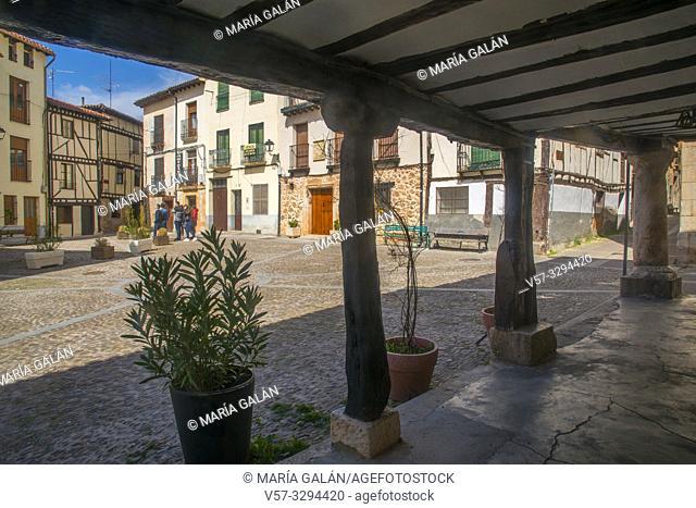 Obispo Peña Square. Covarrubias, Burgos province, Castilla Leon, Spain