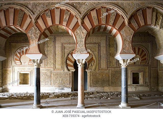 Ambassadors' Hall of palace built by caliph Abd al-Rahman III, ruins of Medina Azahara. Cordoba province, Andalucia, Spain Cordoba province, Andalucia, Spain