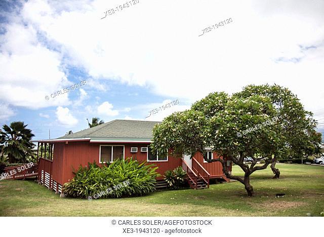 Hawaiian cottage, Oahu, Hawaai
