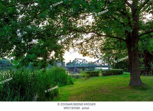 Park with bridge