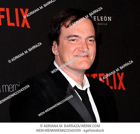The Weinstein Company & Netflix 2016 Golden Globe after party held at the Beverly Hilton Hotel - Arrivals Featuring: Quentin Tarantino Where: Los Angeles