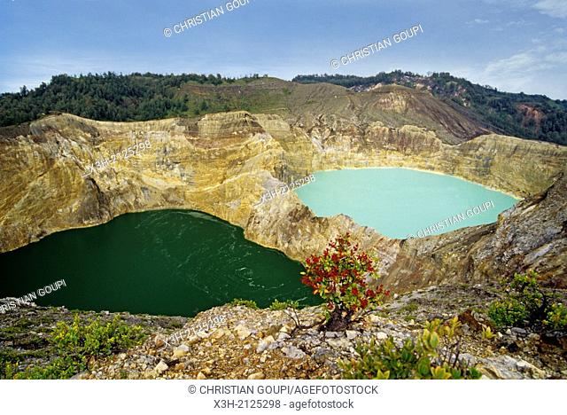 Kelimutu crater lakes, Flores island, Lesser Sunda Islands, Republic of Indonesia, Southeast Asia and Oceania