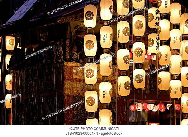 Gion Matsuri Festival, YoiYama, Kankoboko, hoko, Ohayashi, Evening View, Kyoto, Kyoto, Kinki, Japan