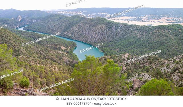Marsh spectacular landscapes of dams and forests of La Alcarria, Guadalajara, Spain