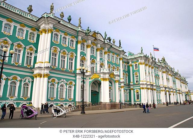 Zimny Dvorets the Winter Palace at Palace Square central St Petersburg Russia Europe