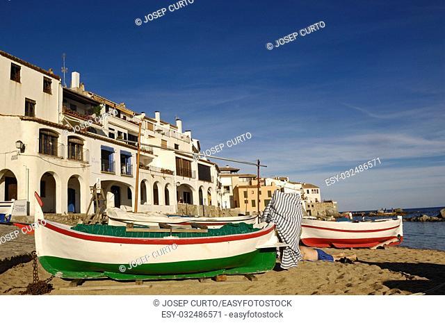 arch in el Port Bo Beach, Calella de Palafrugell, Costa Brava, Girona,Spain