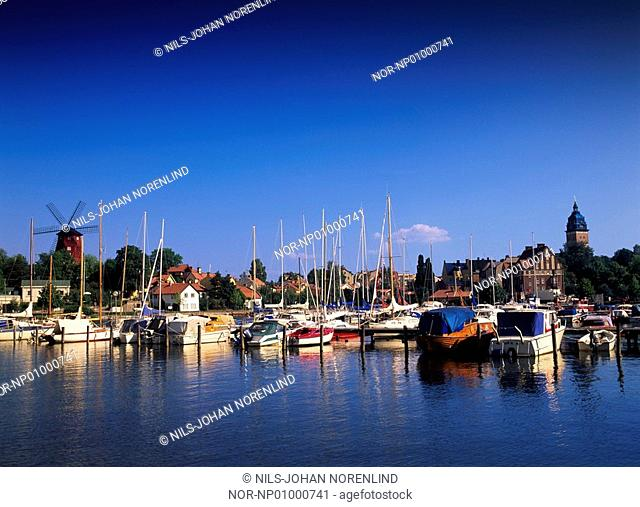 Harbour with boats and houses