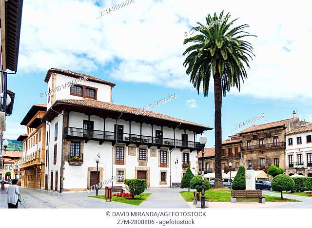 Old stately house. Villaviciosa. Asturias. Spain. Conjunto histórico artístico