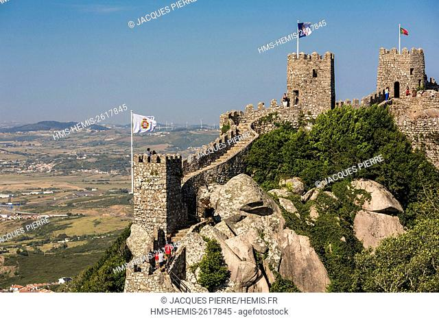 Portugal, Lisboa e Setubal Province, Sintra listed as World heritage by UNESCO, the Castle of the Moors in Estremadure the origin of which goes back to the Xth...