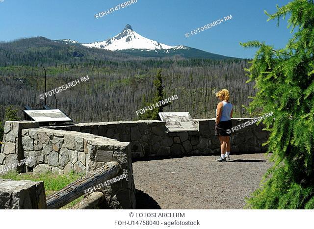 Mt. Washington, OR, Oregon, Deschutes National Forest, Cascade Range, Cascade Volcanic Belt, overlook