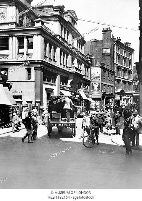 Leadenhall Street looking west, City of London, before 1933. Reid, an amateur photographer of independent means, began an ambitious project to record