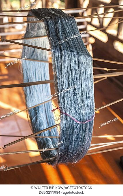 Laos, Vientiane, traditional Lao textile loom