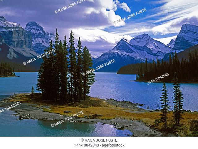 Canada, North America, America, October 2007, Alberta Province, Jasper, national park, Maligne Lake, October 2007, Nor