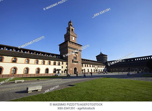 The Filarete tower of the Sforza Castle, Milan, Italy