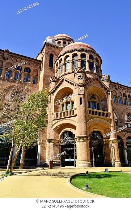 Casa Convalescència. One of the last works of Catalan Modernism. Part of the grounds of the Hospital de la Santa Creu i Sant Pau