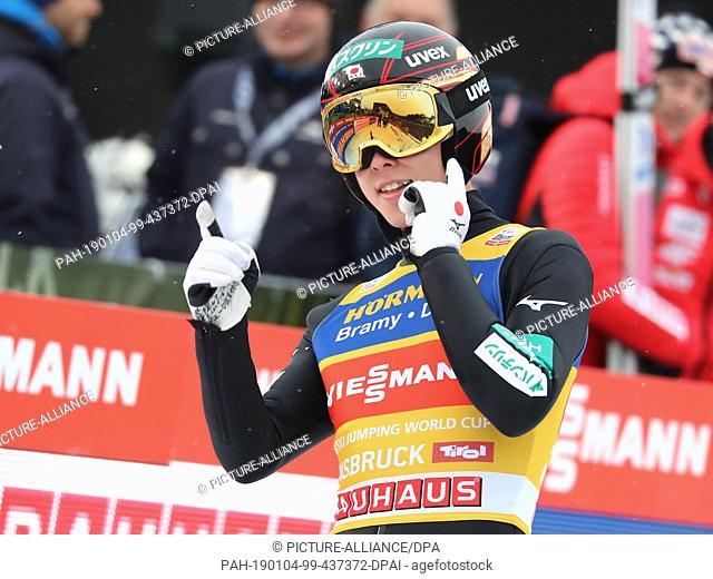 04 January 2019, Austria, Innsbruck: Nordic skiing / ski jumping: World Cup, Four Hills Tournament Großschanze, Men, 2nd round