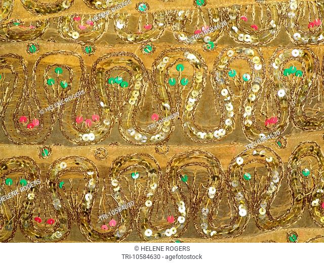 Indian Silk Embroidery with Sequins