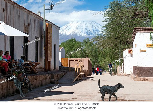 Andean peaks seen from San Pedro de Atacama. The two peaks lie on the Chilean-Argentine border