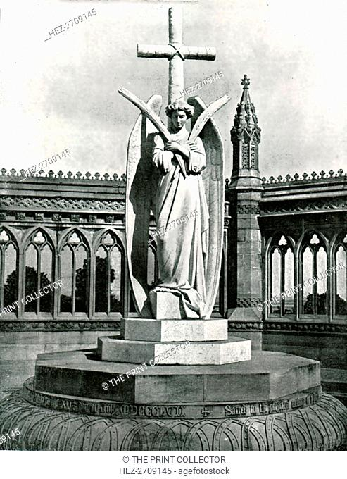 Angel of the Memorial Well, Cawnpore, India, 1895. Creator: Unknown