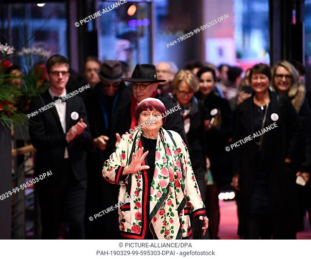 "FILED - 13 February 2019, Berlin: 13.02.2019, Berlin: 69th Berlinale, premiere """"Varda par Agnes (Varda by Agnes)"""", France"