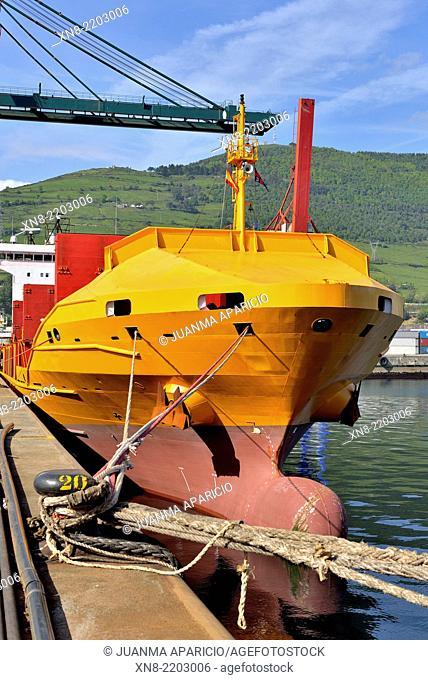 Port of Bilbao, Biscay, Basque Country, Euskadi, Spain, Europe,